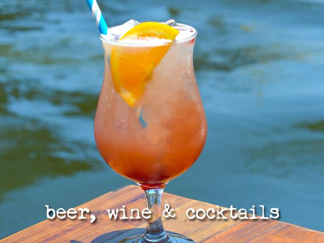 beer, wine, and cocktail menu