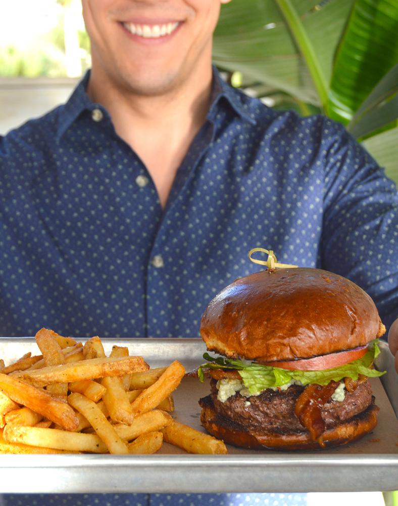 serve me a burger