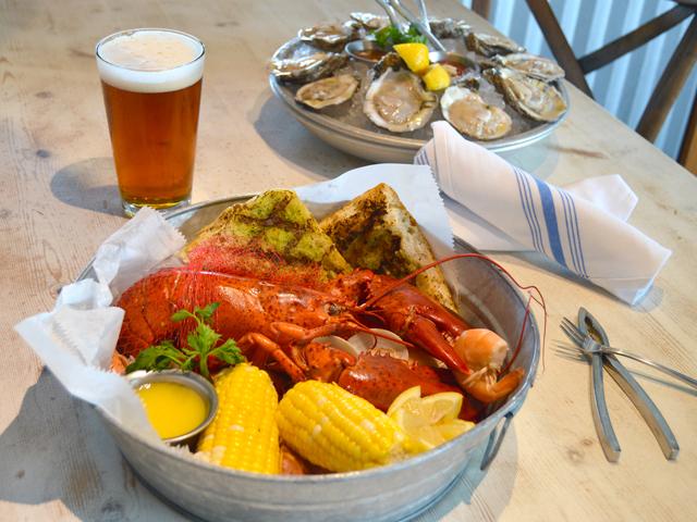 lobster boil, beer & oysters