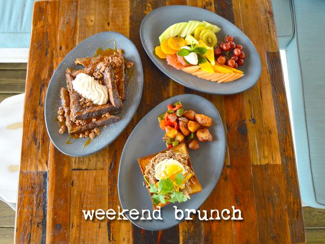 weekend brunch menu
