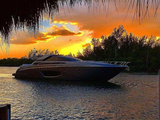 sunset boat ride to tiki tiki