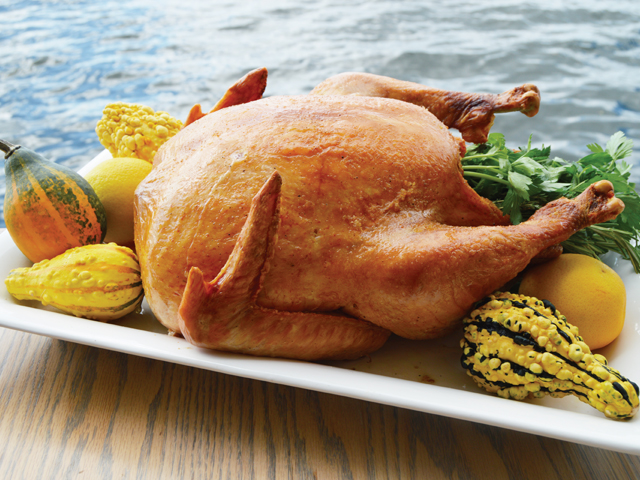 thanksgiving turkey on the water